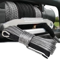 gray green blue synthetic winch rope line cable 14 x 50 6mm x 15m10000lb towing rope synthetic fiber rope 4wd atv wsheath