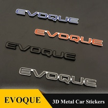 1pcs Quality metal Chrome Refitting EVOQUE Emblem Tail badge 3D car Sticker for Range Rover LRX EVOQ