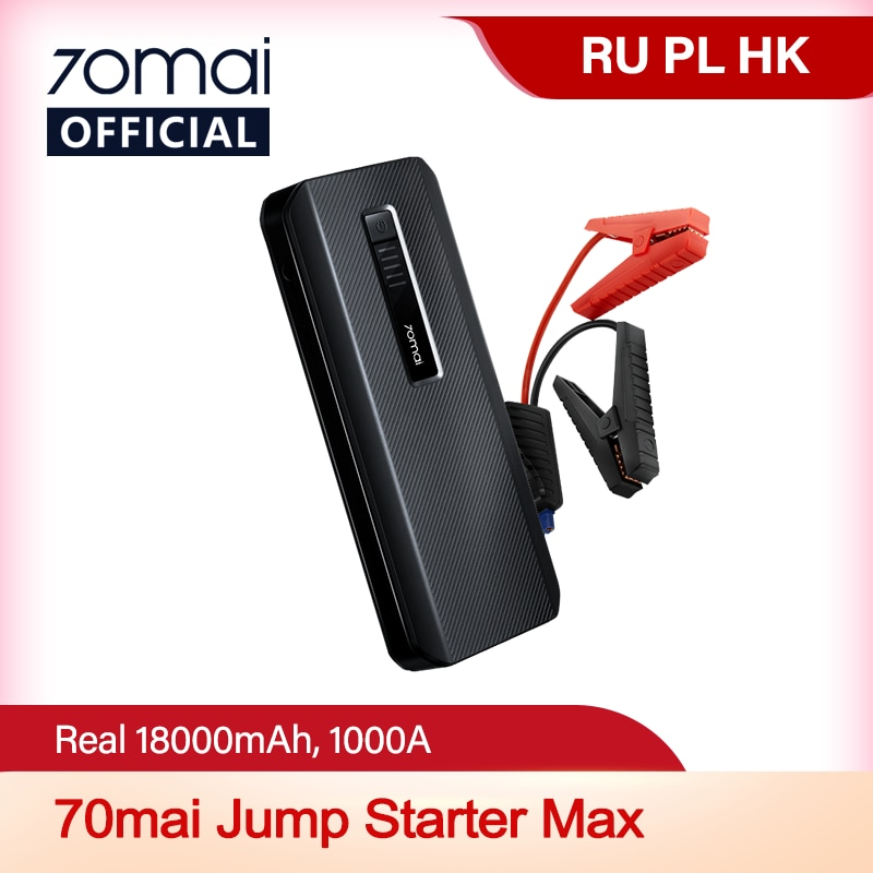 NEW 70mai Jump Starter Max 18000mah 70mai Car Jump Starter PS06 1000A Power Bank Car Jumpstarter Aut