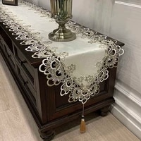 europe embroidered coffee table flag table runner home fabric tv cabinet tablecloth dust cover lace table cloth bed runner