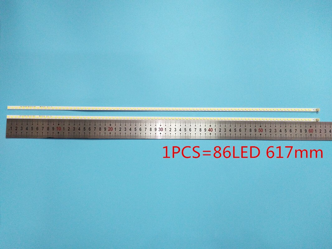 2 uds 86LED 617 millimetres tira conduzida luz de fundo para 55FT5643...