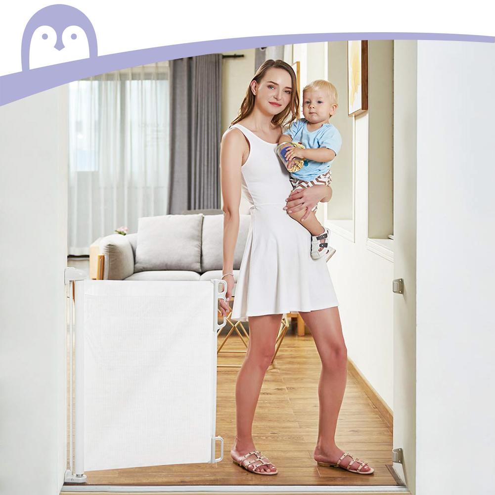 Retractable Baby Safety Gate Lightweight Durable Mesh Pet Dog Gate for Doorways Stairs Hallways Indoor Outdoor Baby Safety Care enlarge