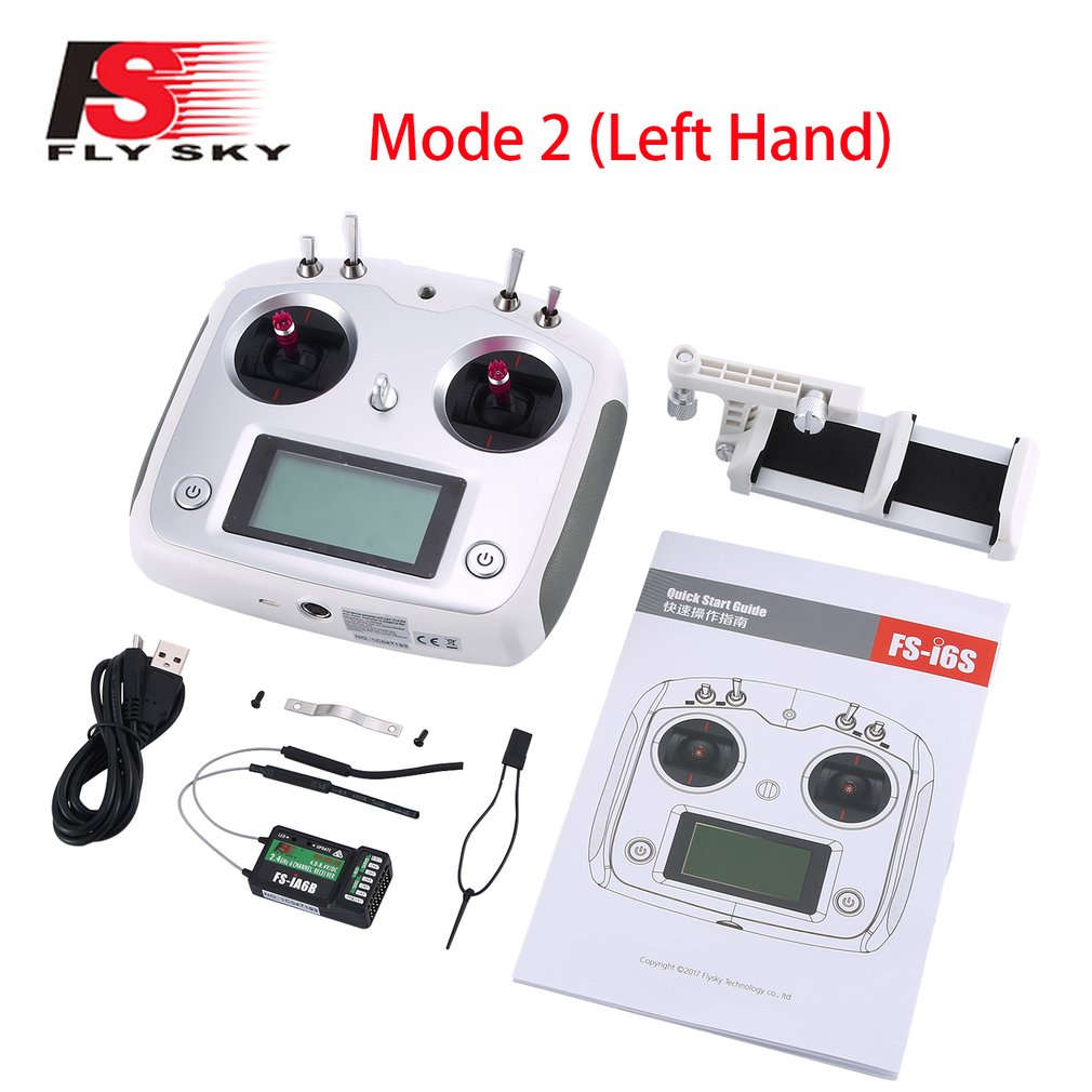 FLYSKY FS-i6S I6S 2.4G 10 Channel AFHDS 2A Transmitter IA6B Receiver For RC Airplane FPV Racing Drones enlarge
