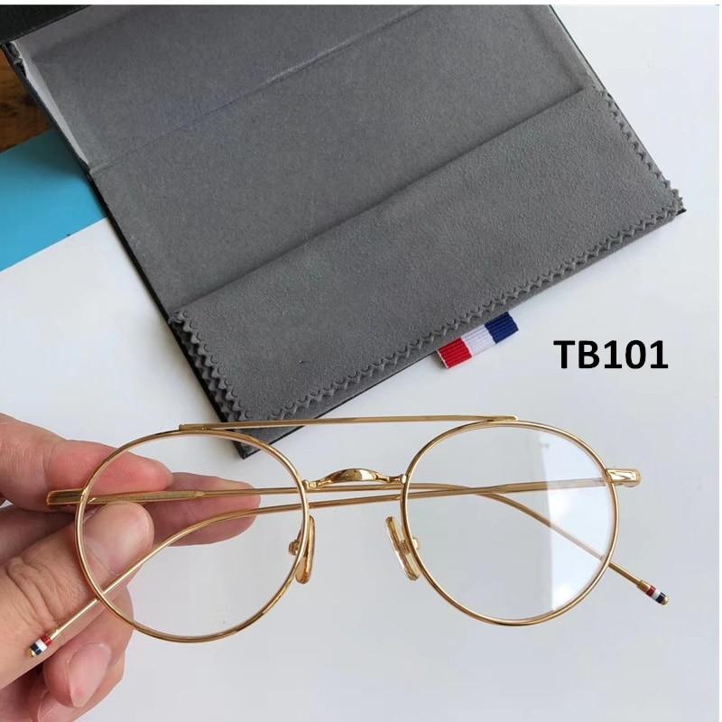نيويورك ثوم ماركة نظارات بتصميمات مميزة نظارات دائرية الرجعية إطار وصفة طبية البصرية النظارات الشمسية للرجال النساء Gafas