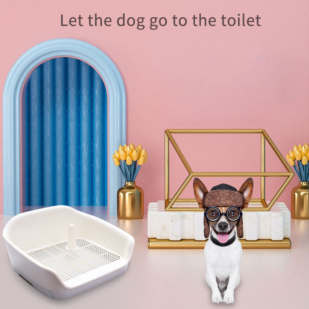 Asiento de inodoro para perros, suministros para mascotas, bandeja de arena para gatos y cachorros, orinal de peluche con tipo cajonera, espacio grande, doble capa