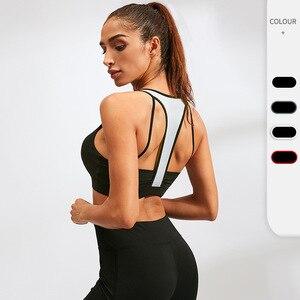 Sexy Yoga Bra for Women Crop Tops Activewear Beauty Back Hollow Vest Gathering High-intensity Underwear Fitness Tank Tops