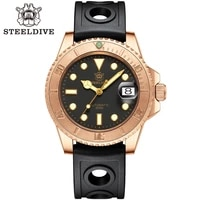new steeldive sd1953s mens luxury bronze diving watch luminous japan nh35 movement 300m waterproof mechanical retro wristwatch