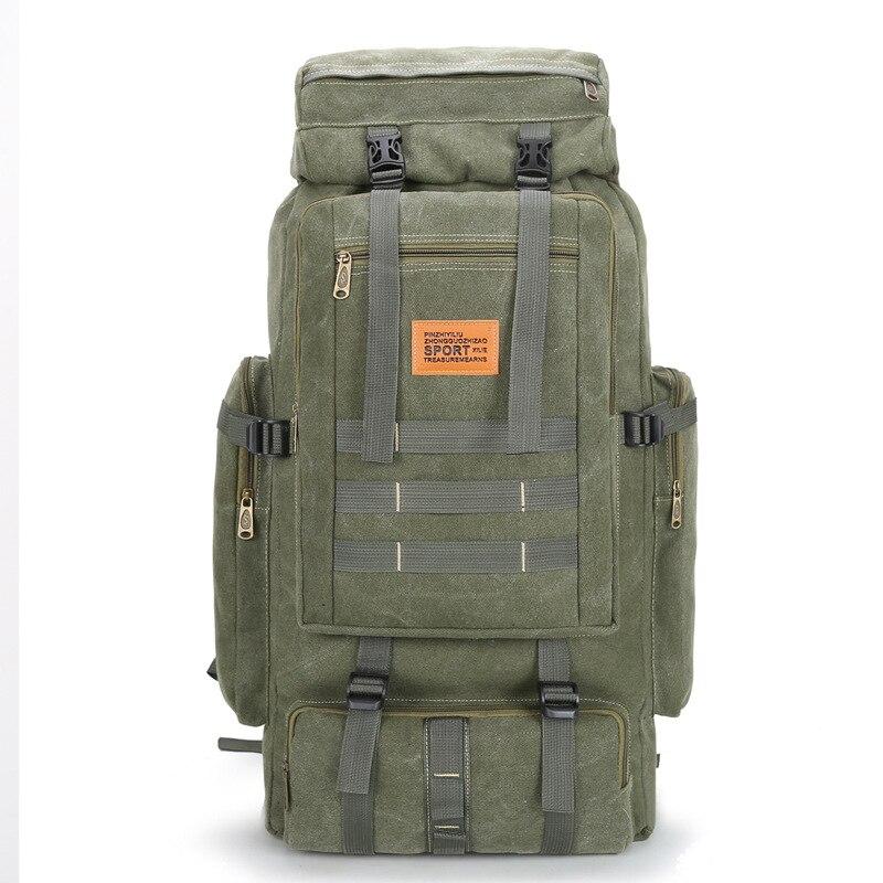 Mochila de gran capacidad, bolsa de Montañismo al aire libre multifuncional, 80L, mochila con cordón, mochila con haz boca, mochila para portátil de viaje