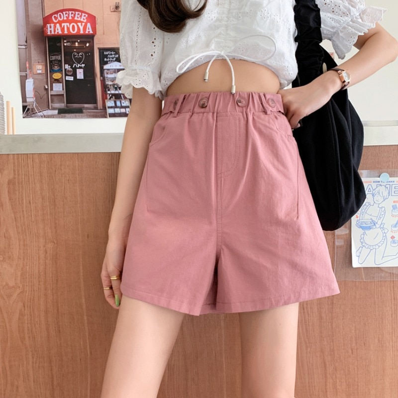 Summer Loose Straight Wide Leg Shorts Women's New Casual Comfortable Slim Shorts All-match High Wais