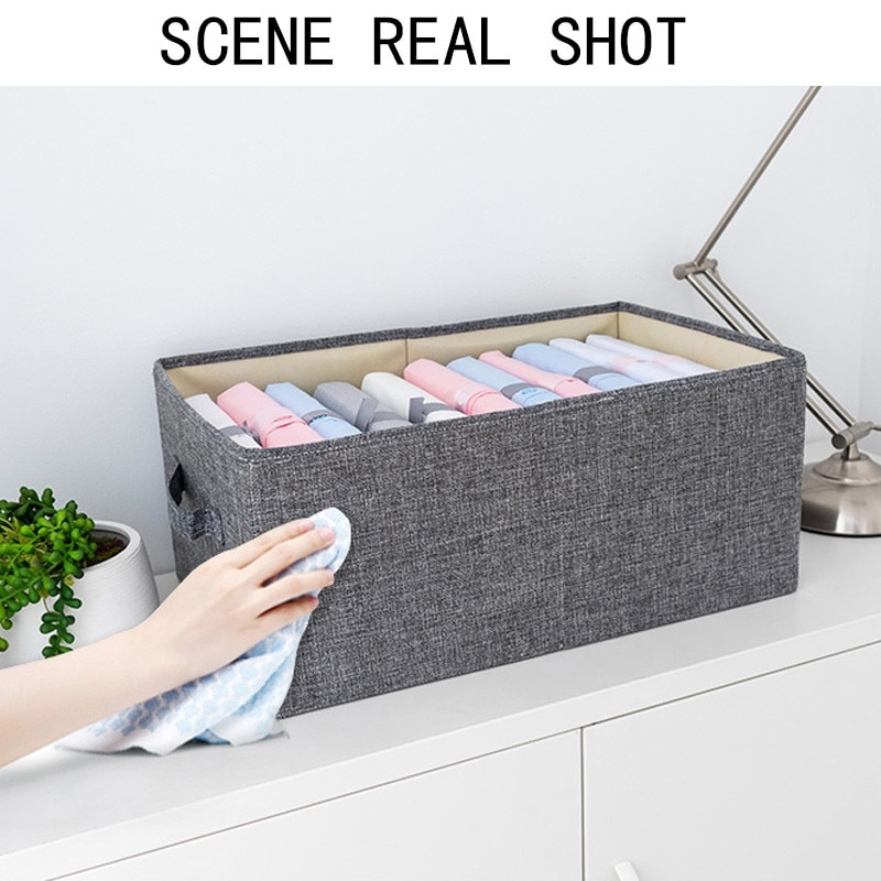 Clothes Storage Bag Closet Organizer Box with Reinforced Handle Durable for Clothing Books Comforters Blankets Bedding Toys Case