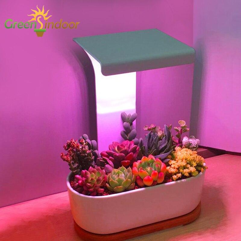 Luz LED USB para interiores, lámpara con temporizador Phyto para plantas, suculentas luces de espectro completo para flores Cactus IR VU, lámpara de escritorio ligera