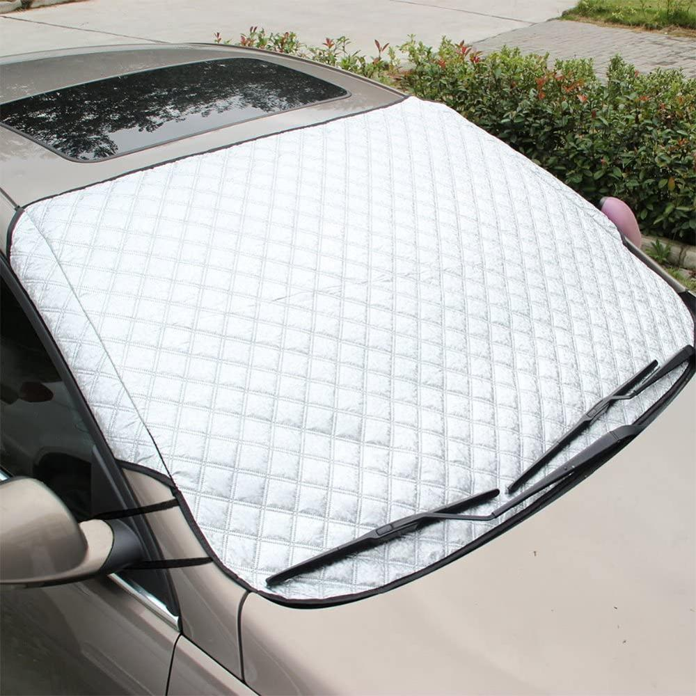 Car Windshield Snow Cover, Sun Shade Windscreen Frost Guard Protector for All Weather