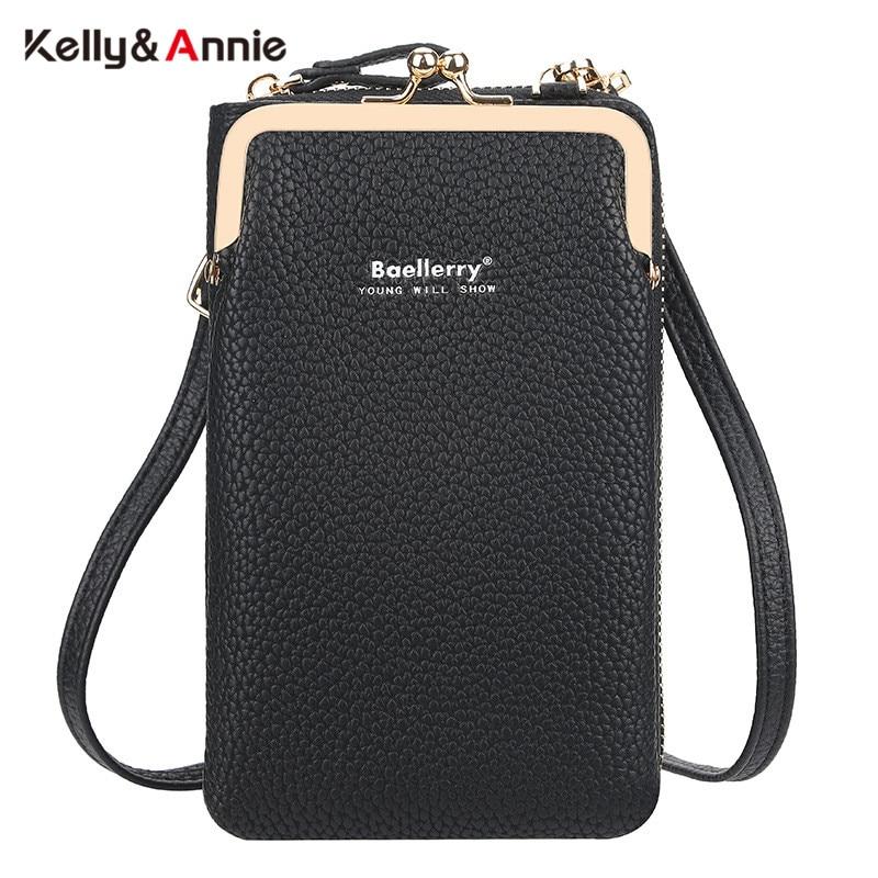 HOT Fashion Small Shoulder Bag For Women Pu Leather Clip Phone Pocket Female Crossbody Bags Ladies Mini Messenger Card Purse