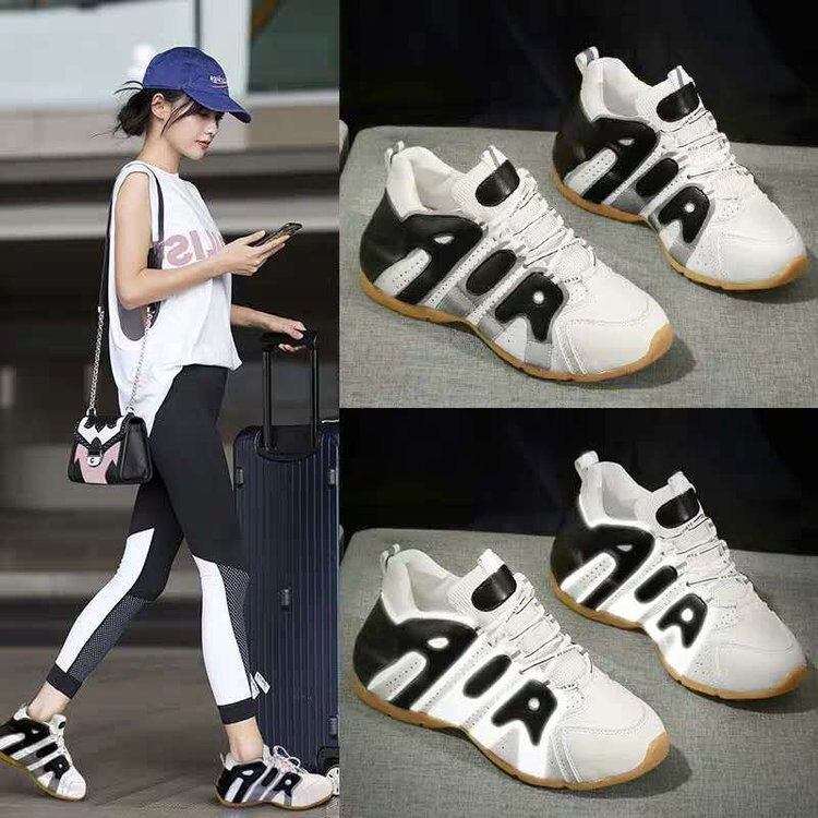 حذاء جري نسائي عاكس ، حذاء أبيض جديد ، كاجوال ، متناسق مع كل شيء ، عصري