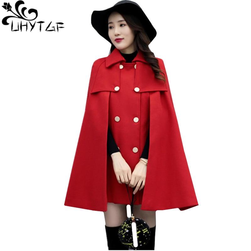 UHYTGF-معطف نسائي من الصوف ، معطف مزدوج الصدر غير رسمي ، معطف من الصوف ، مجموعة خريف وشتاء 762