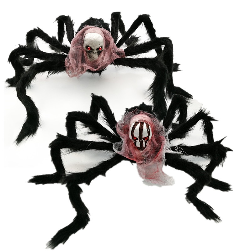 9styles Halloween Party Horrible Simulation 75cm Skull Head Plush Spider Ghost Toy
