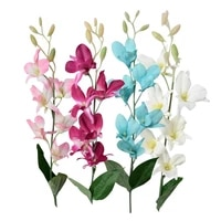 artificial fake orchid flower plant home office wedding party table decorative bouquet ornament photograph prop