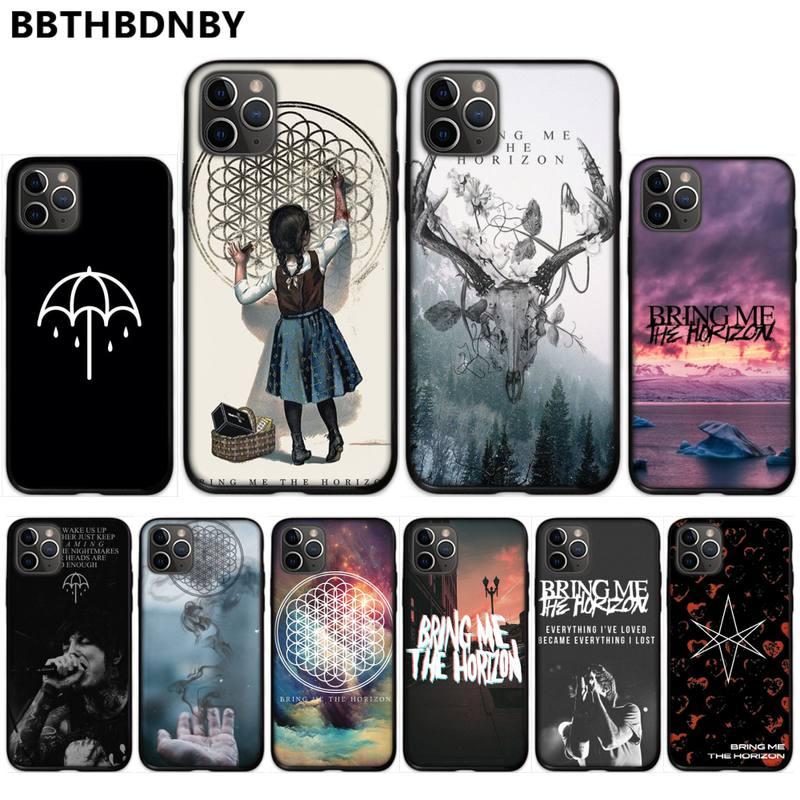 Me trae el horizonte BMTH suave de la cubierta del teléfono para iPhone 11 12 pro XS MAX 8 7 6 6S Plus X 5S SE 2020 XR