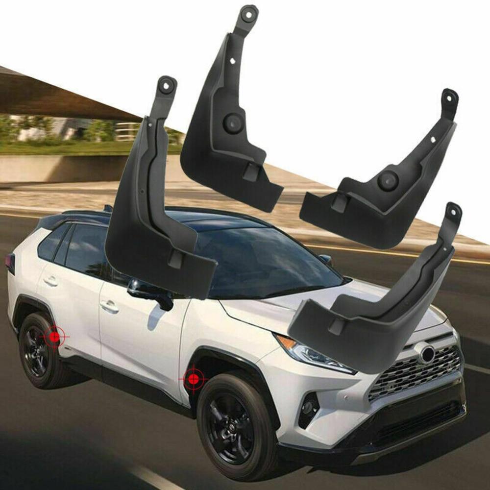 4Pcs Car Fender For Toyota RAV4 2019 Mud Splash Guards Tyre Mudguards Black Front Rear Mud Flaps Mudguard High Quality