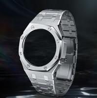 Hontao CasiOak 3th Generation GA2100 Metal Watch Strap GA2110 Watchband Bezel for Casio G-Shock GA-2100 Replacement Accessories