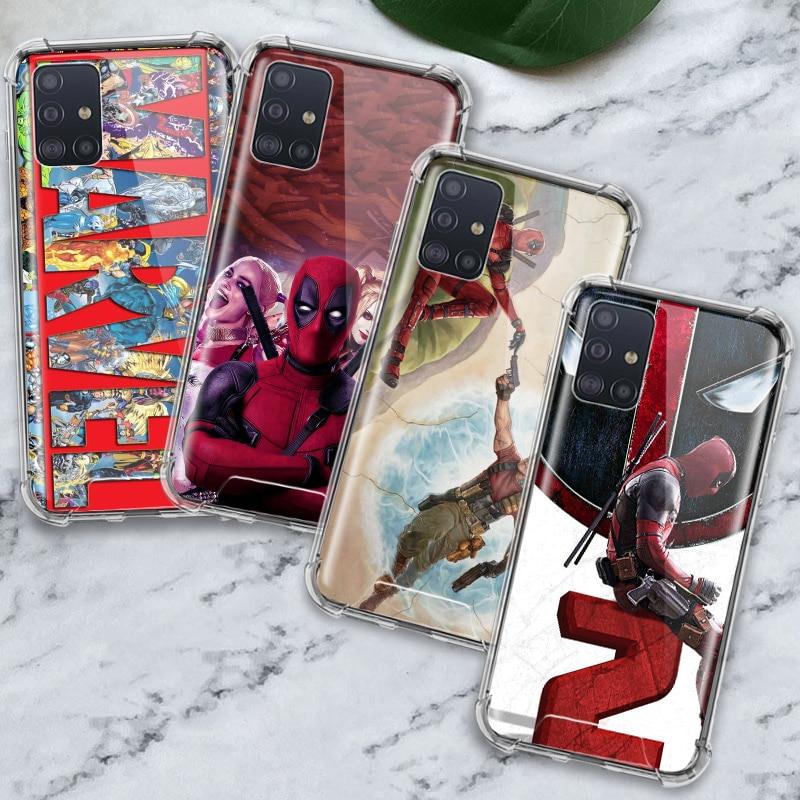 Deadpool Marvel Case for Samsung Galaxy A71 A51 M31 A41 A31 A21 A11 A01 M51 M21 M11 Airbag Anti Housing Phone Covers