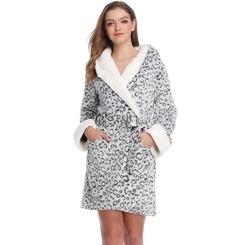 Mujeres Teddy Fleece Robe Albornoz de dama de honor ropa de hogar Kimono ropa de dormir vestidos de novia bata de baño para mujer joven