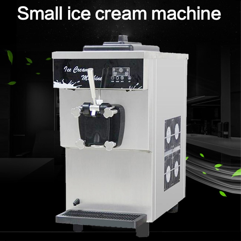 Ice cream machine commercial small desktop automatic soft ice cream machine BDB7116 sweet tube machine ice cream machine