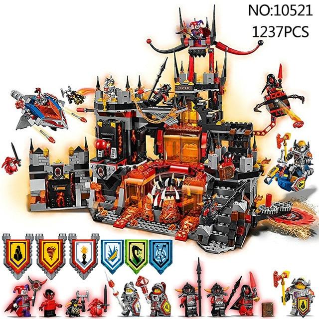 Compatible 70323 Nexion caballeros Jestro Volcano Lair figura modelo Kit de bloques de construcción juguetes para niños regalo educativo