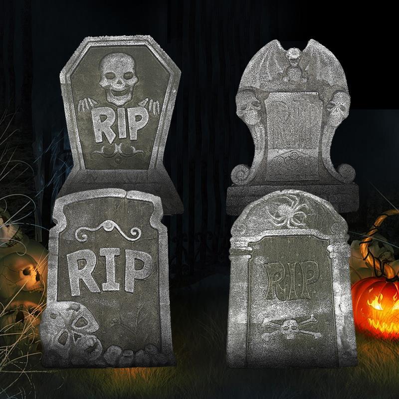 Надгробие из пенопласта для Хэллоуина, 4 стиля