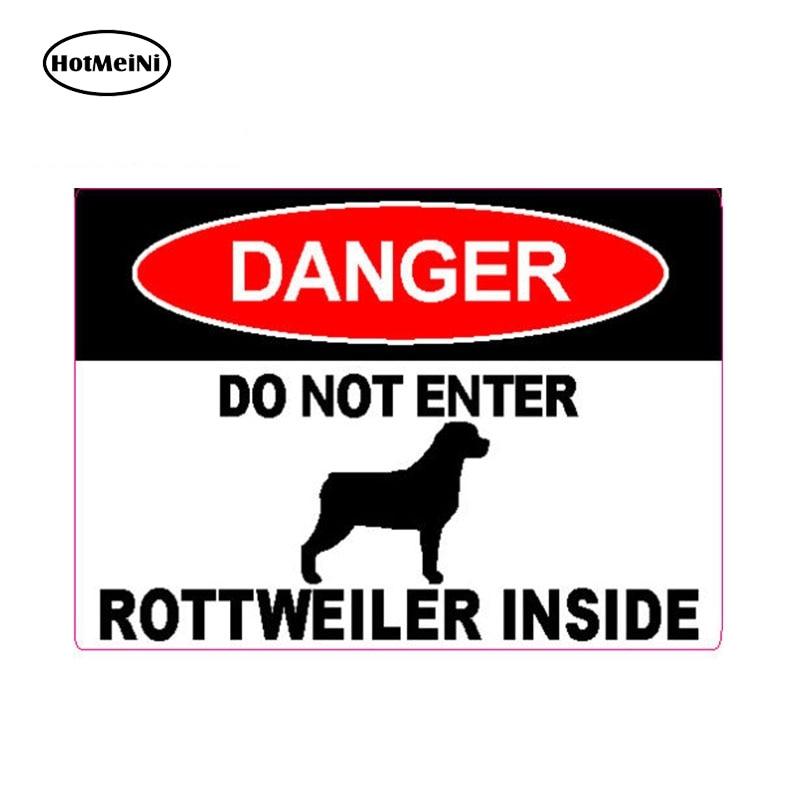 HotMeiNi 13cm x 9.3cm DANGER DO NOT ENTER ROTTWEILER INSIDE Dog Caution Warning Decal Personality Vinyl Car Sticker Waterproof