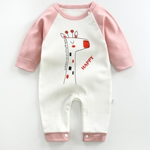 2021 Infant Onesies Spring Autumn New Romper Long-sleeved Cotton Rompers Baby Clothes Cartoon Animal