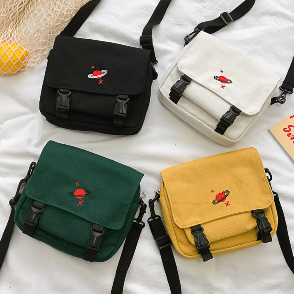 Sacos das mulheres bolsas cor sólida multi t planeta bordado lona bolsa de ombro bolsa mensageiro bolsa feminina