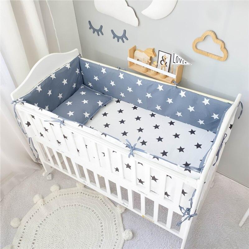 6 قطعة طقم سرير الطفل القطن الكرتون سرير طفل حامي الوفير وسادة حديثي الولادة المهد ورقة حاف الغطاء المخدة قابل للغسل السرير Se