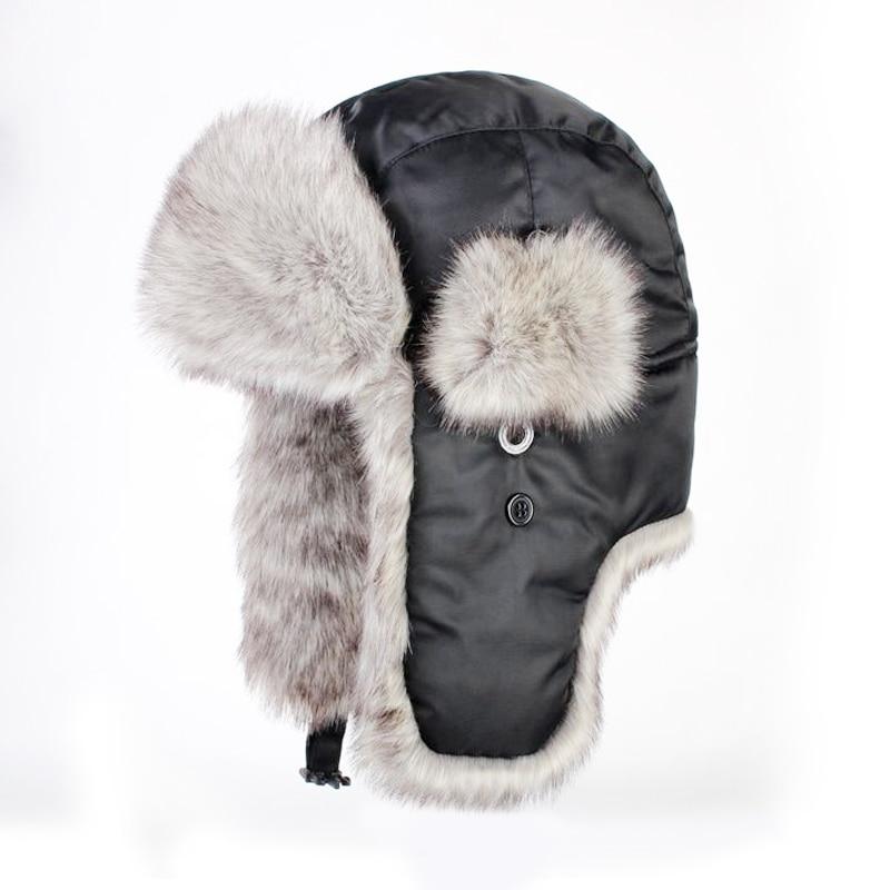 الشتاء الأرنب الفراء العشب لى فنغ قبعة الرجال العشب الأرنب الفراء العلوي سميكة الدافئة سدادات حماية الأذن قبعة
