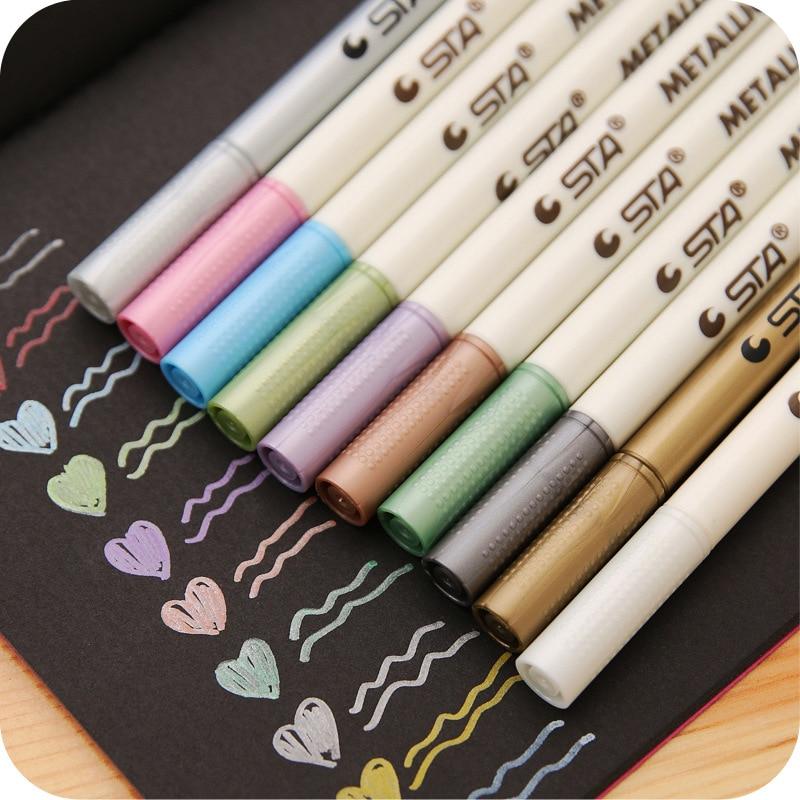 10-pz-lotto-sharpie-marcatori-penna-di-colore-del-metallo-marcatore-graffiti-di-vernice-multicolore-pennarello-sharpie-materiale-scolastico-di-cancelleria