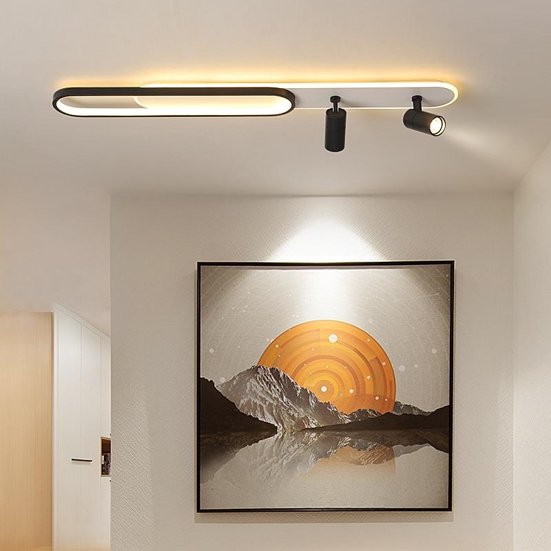 الاكريليك قطاع Led الثريات مع الأضواء لغرفة المعيشة غرفة نوم أضواء الإضاءة ديكور أسود الذهب بريق المطبخ تركيبات