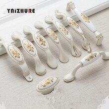 Poignées de porte armoires de cuisine en ivoire   1 pièce, poignées de porte, poignées de meubles tiroirs