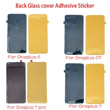 5 pçs/lote Tampa Traseira Porta Da Bateria etiqueta Adesiva cola de fita Para Oneplus 6 6T 7 Pro