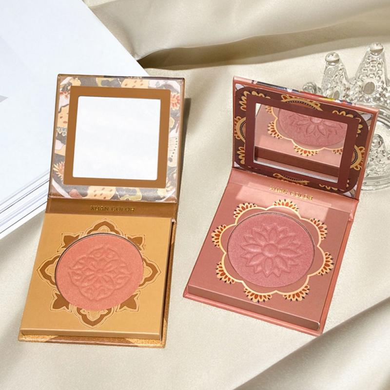 XUAN COLOR Ins Monochromatic Blush Rouge High Gloss Repair Palette Beauty Record Blush Novice Makeup Color Natural Face Makeup