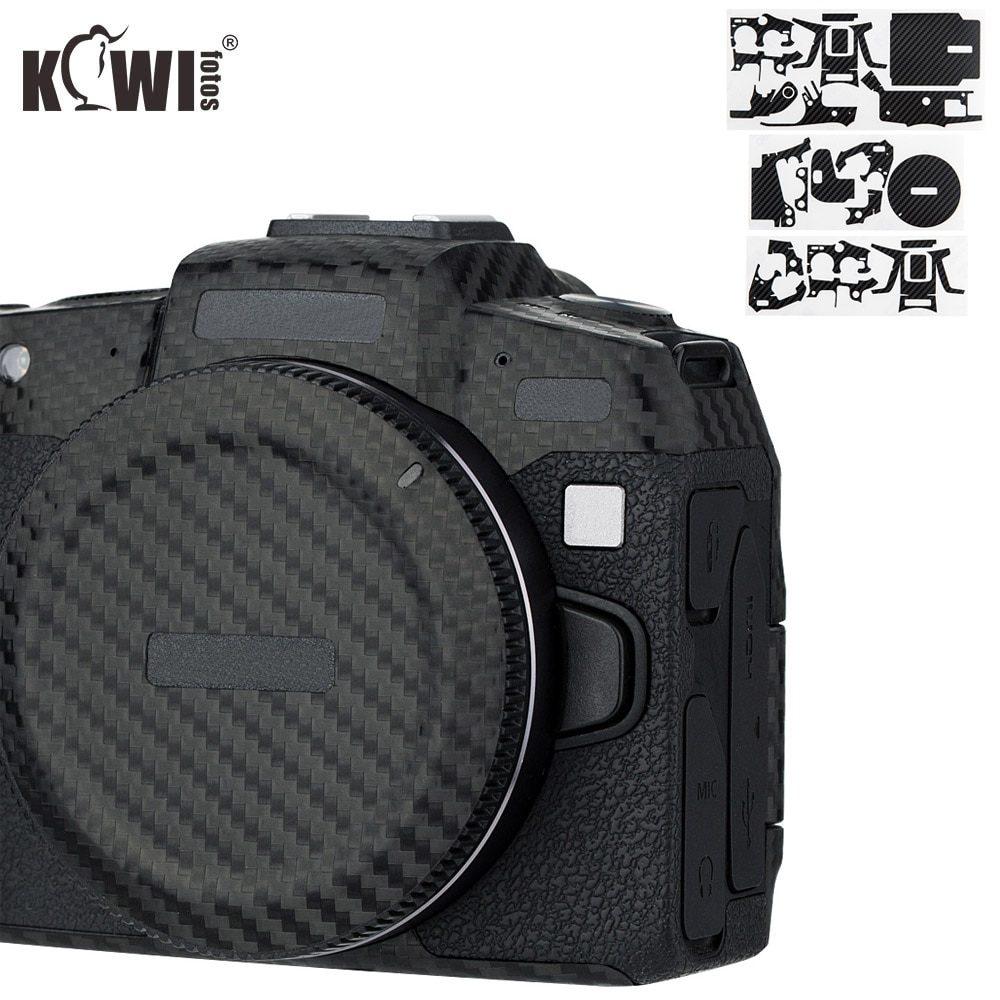 Kiwifotos anti-risco câmera capa de corpo protetor de pele para canon eos rp eosrp kit de filme de fibra de carbono preto 3 m adesivo