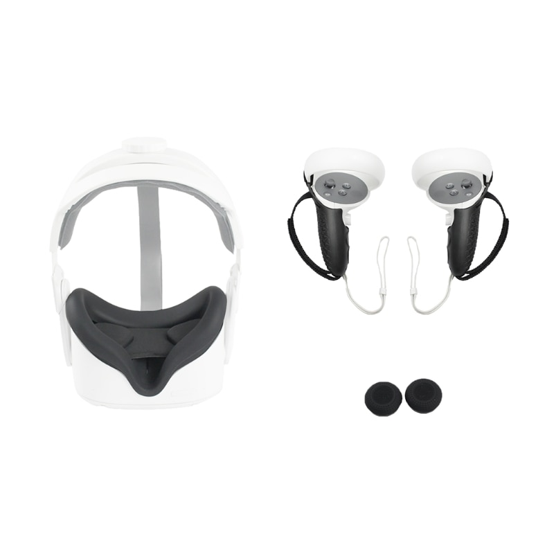 VR Accessorie Set Protective Cover For Oculus Quest 2 VR Touch Controller With Knuckle Strap Handle Grip For Oculus Quest2
