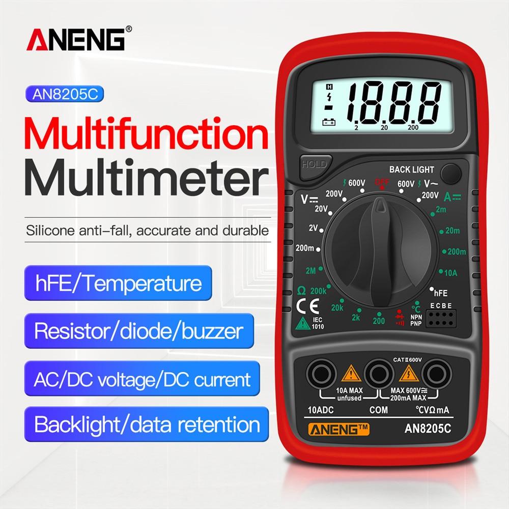 Multímetro Digital ANENG AN8205C, polimetro multimetro tester multímetro voltimetro voltimetro multimeter amperímetro...
