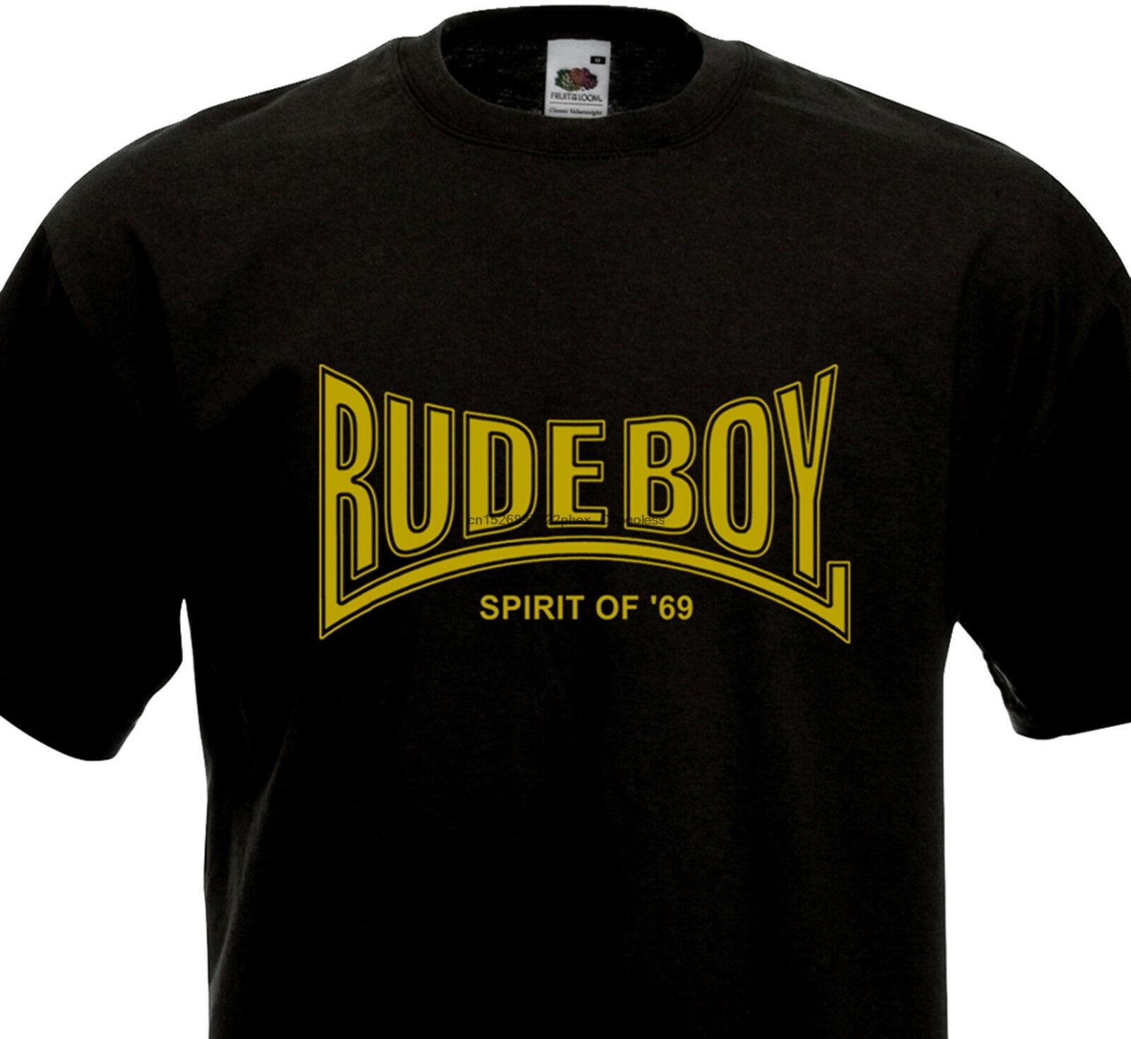 Camiseta rude menino espírito of69 69-ska trojan rocksteady punk rock pele inglaterra (1)