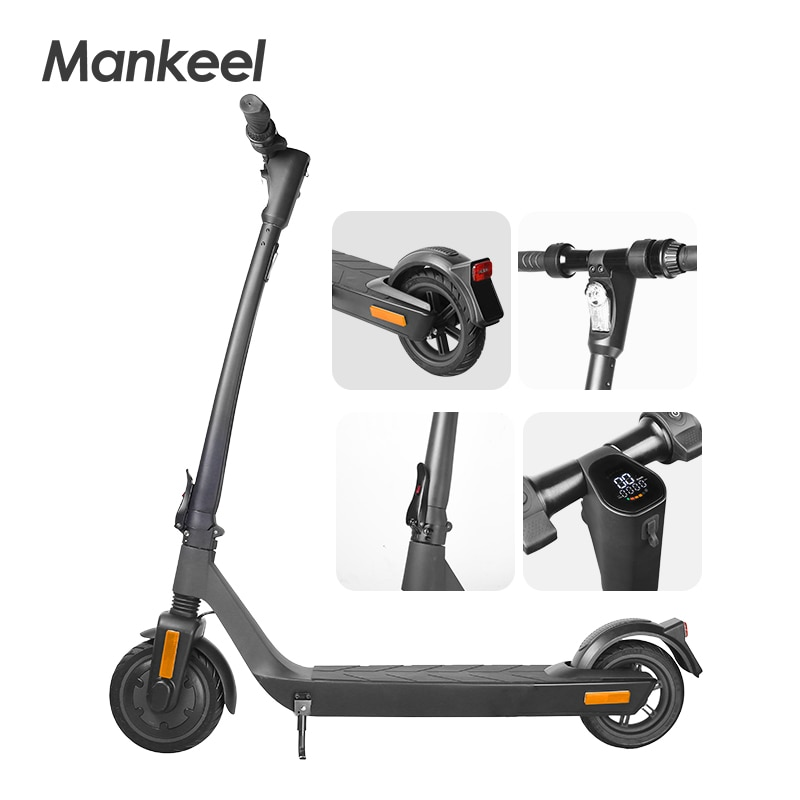 EU Stock! Electric Scooter 350W 8.5 Inch Tires 25KM/H Speed Super Safety Design High-End Kick Skateboard For Adults Kid