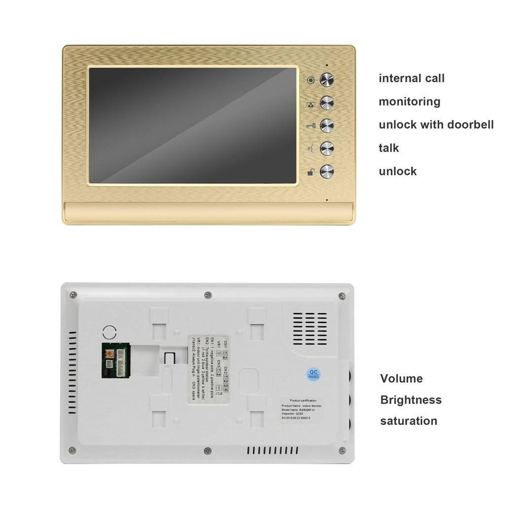 Home Wired Video Intercom System Apartment Video Door Phone 7 Inch Monitor Analog Doorbell Camera Support Open 2 Electronic Lock enlarge