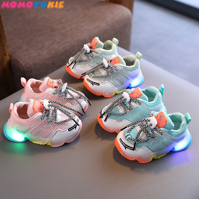 LED lighted Kids Footwear Shoes Child Sneakers Casual Baby Running Bosy Girls Chaussure Enfant Child