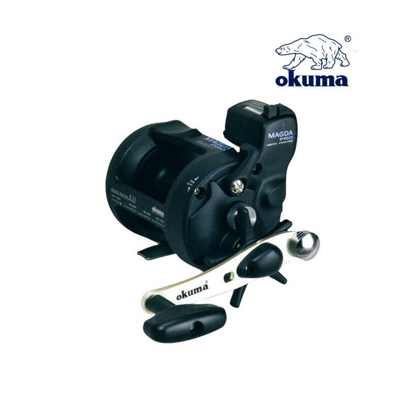 Okuma 2BB 5.1:1 Drum Wheel Fishing Reel with Line Counter Aluminum Alloy Fishing Trolling Wheels Left Right Handed Reel De Pesca enlarge