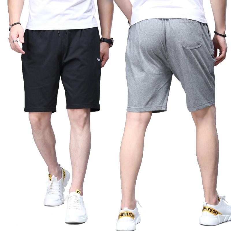 Shorts de corrida de algodão curto verão calções de joelho meia calça respirável casual wear shorts garantia de qualidade