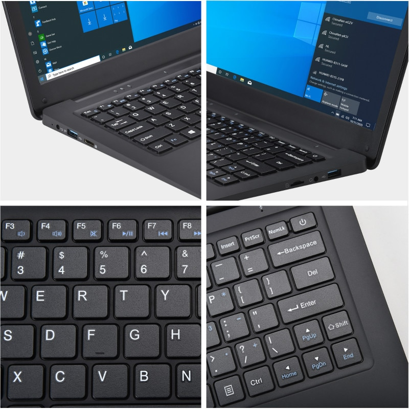 12.5 Inch Netbook Windows 10  Pro Lightweight Ultra-Thin 4GB+64GGB Small Laptop Intel N3350 64-Bit Netbook Ultrabook Office PC