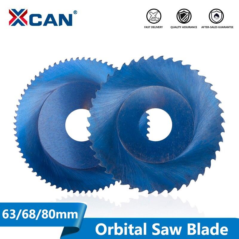 XCAN 1pc Nano Blau Beschichtet Orbital Schneiden Maschine Sägeblatt 63/68/80mm 44/64/72/80T HSSM35 Metall Rohr Schneiden Kreissäge Klinge